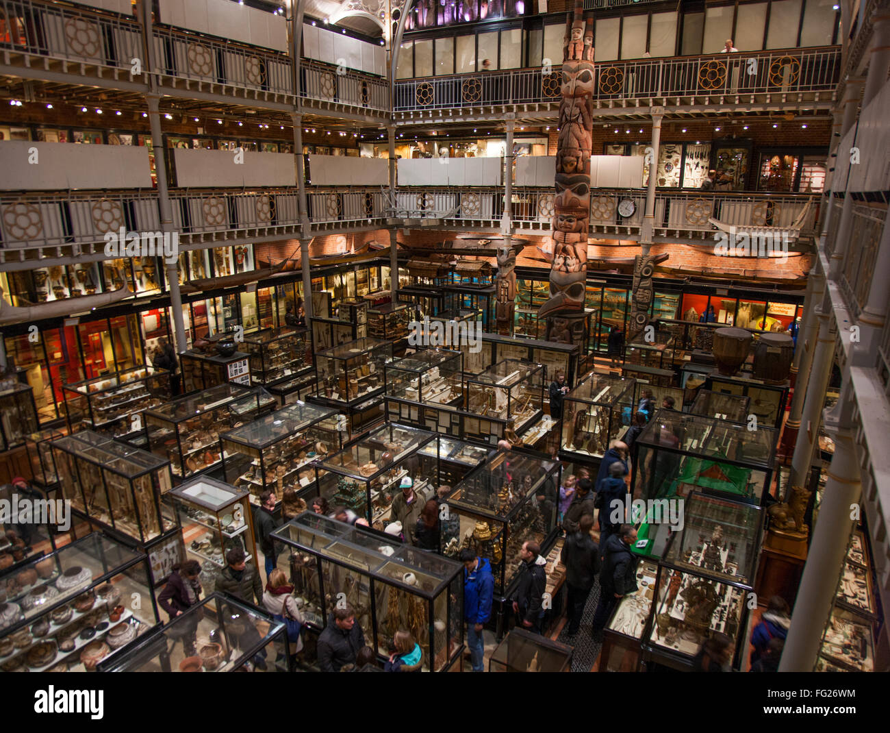 Panoramic photo of The Pitt Rivers Museum in Oxford, UK (Located to the east of the Oxford University Museum of - Stock Image