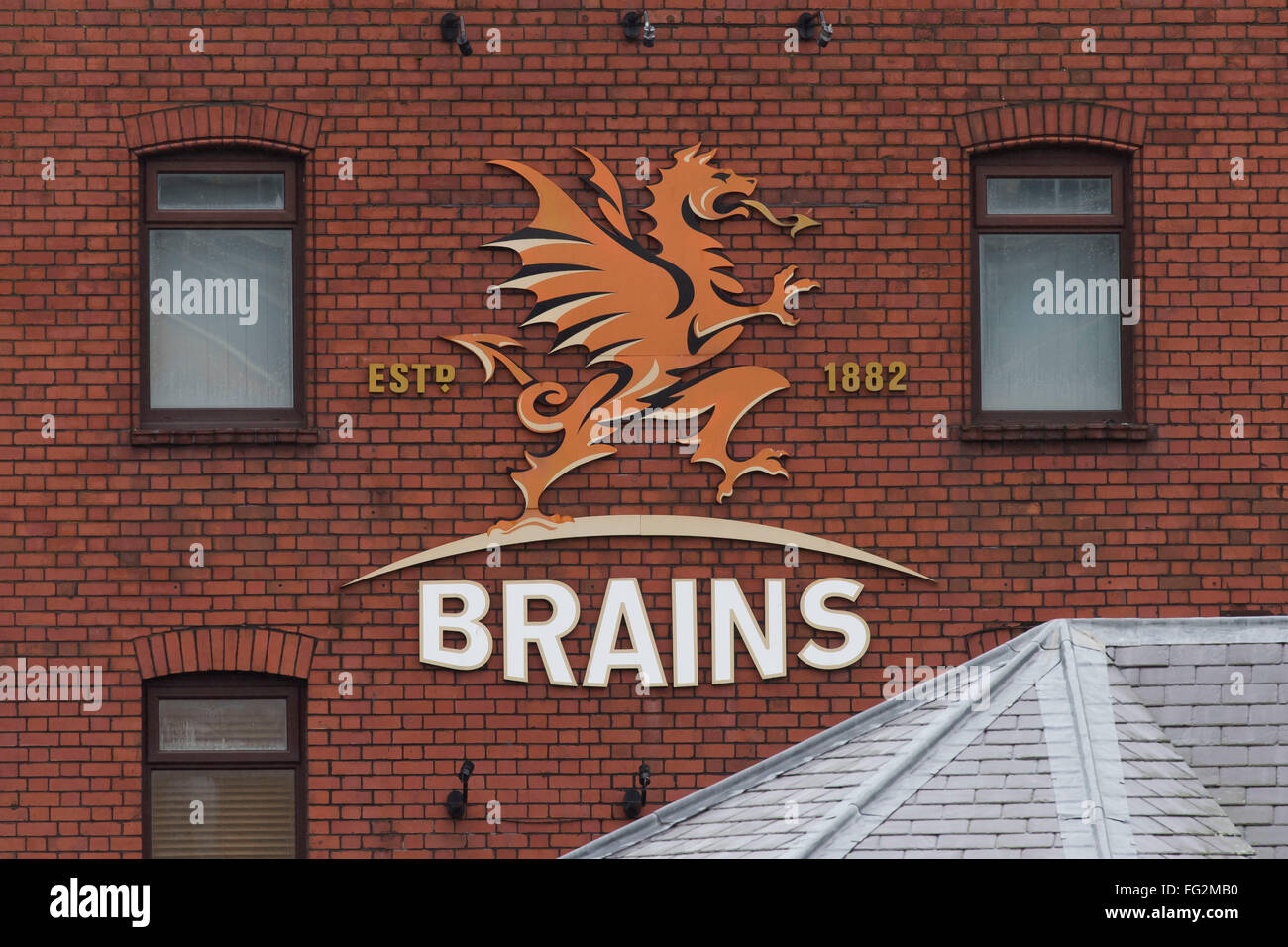SA Brains Brewery in Cardiff, South Wales - Stock Image
