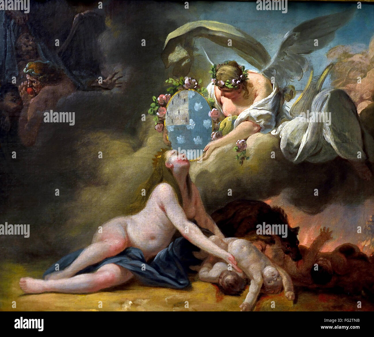 Ceres allegory of The Summer  1699 Louis de Boulogne 1654-1733  France French ( Roman religion, Ceres  was a goddess - Stock Image