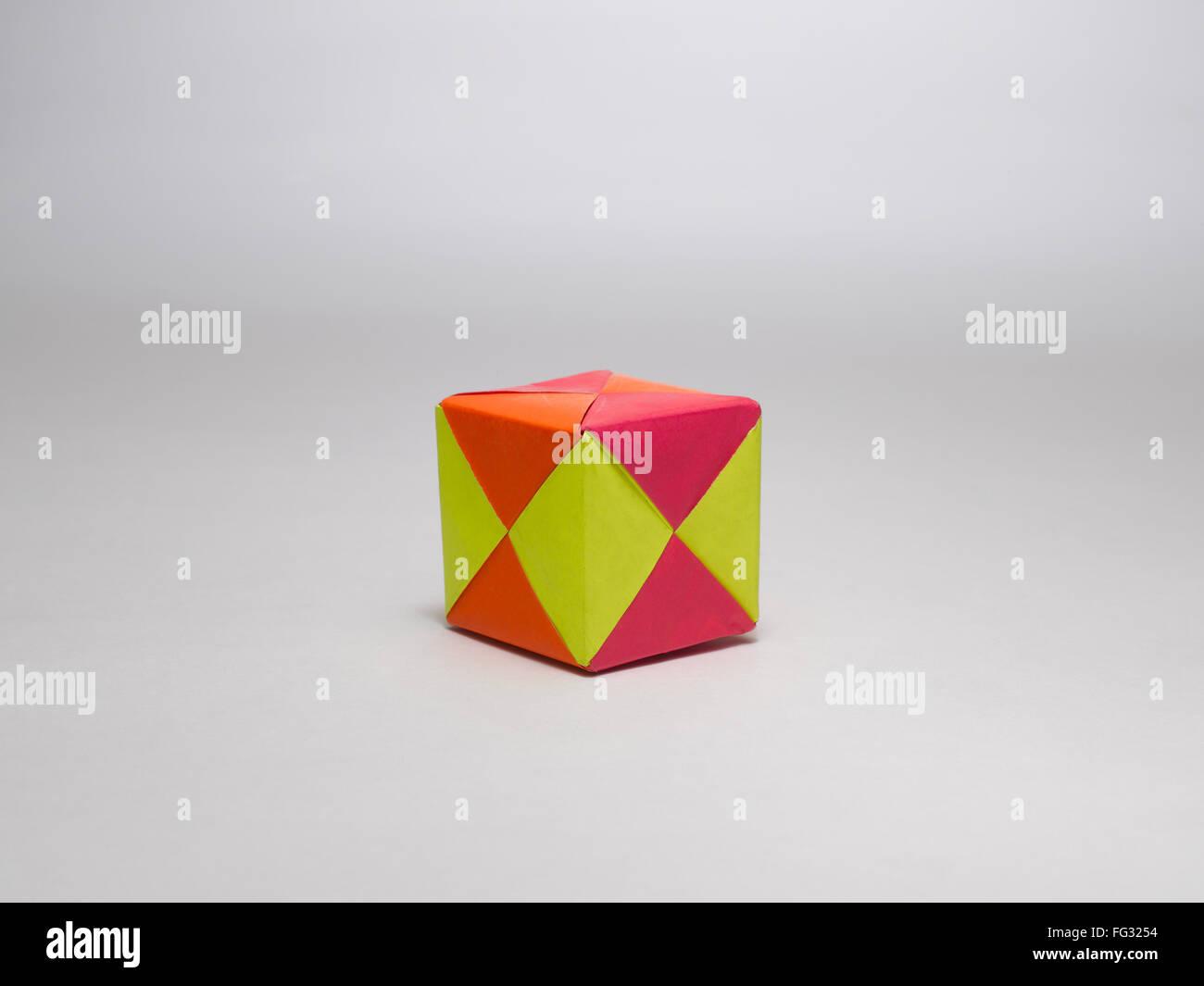 origami multiplex cube India - Stock Image