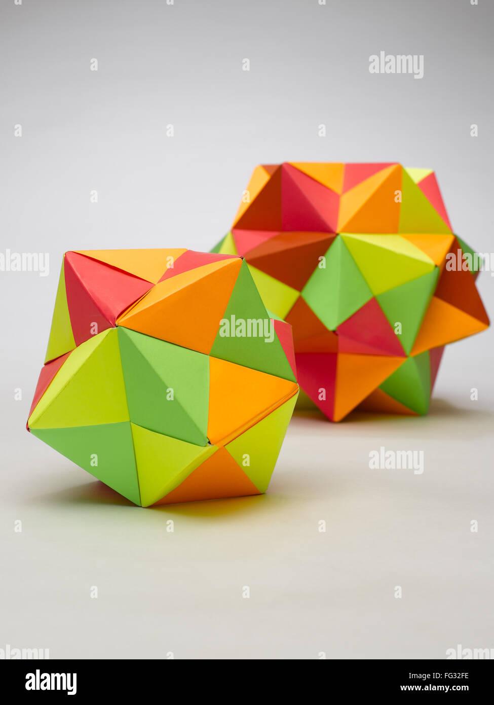 Origami multiplex balls India - Stock Image