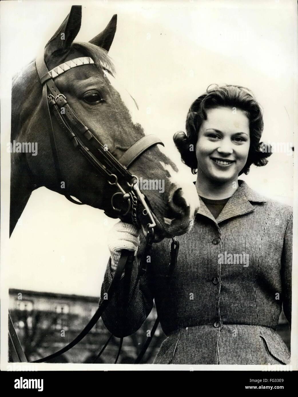 1962 - Princess Benedikte will be 18 on April 29th. Princess Benedikte, daughter of King Frederik and Queen Ingrid - Stock Image