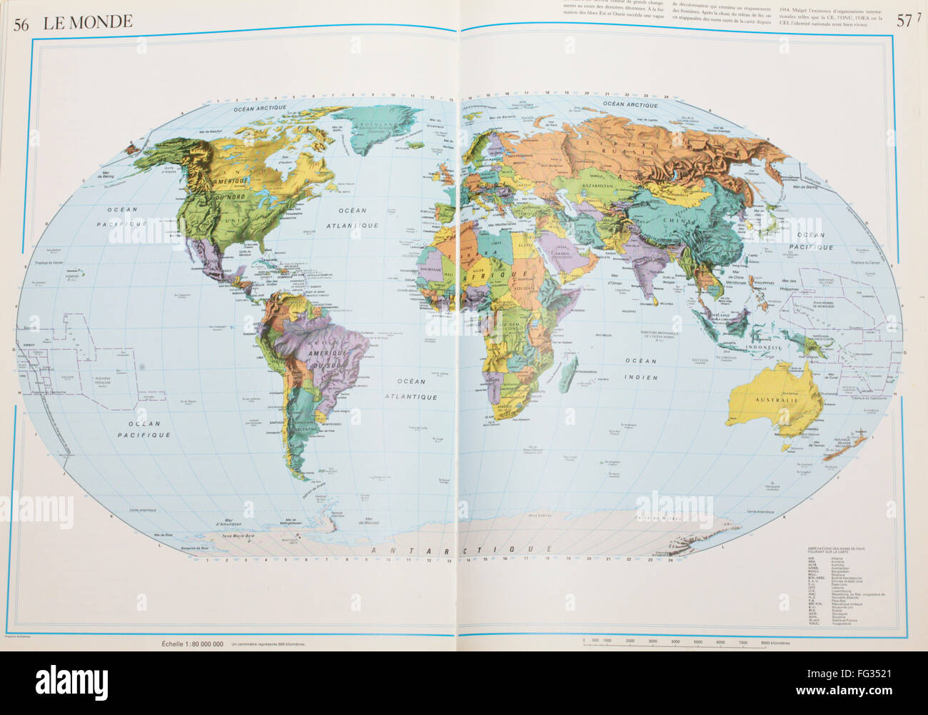 Books open world map stock photos books open world map stock french atlas book open on page with the world stock image gumiabroncs Image collections