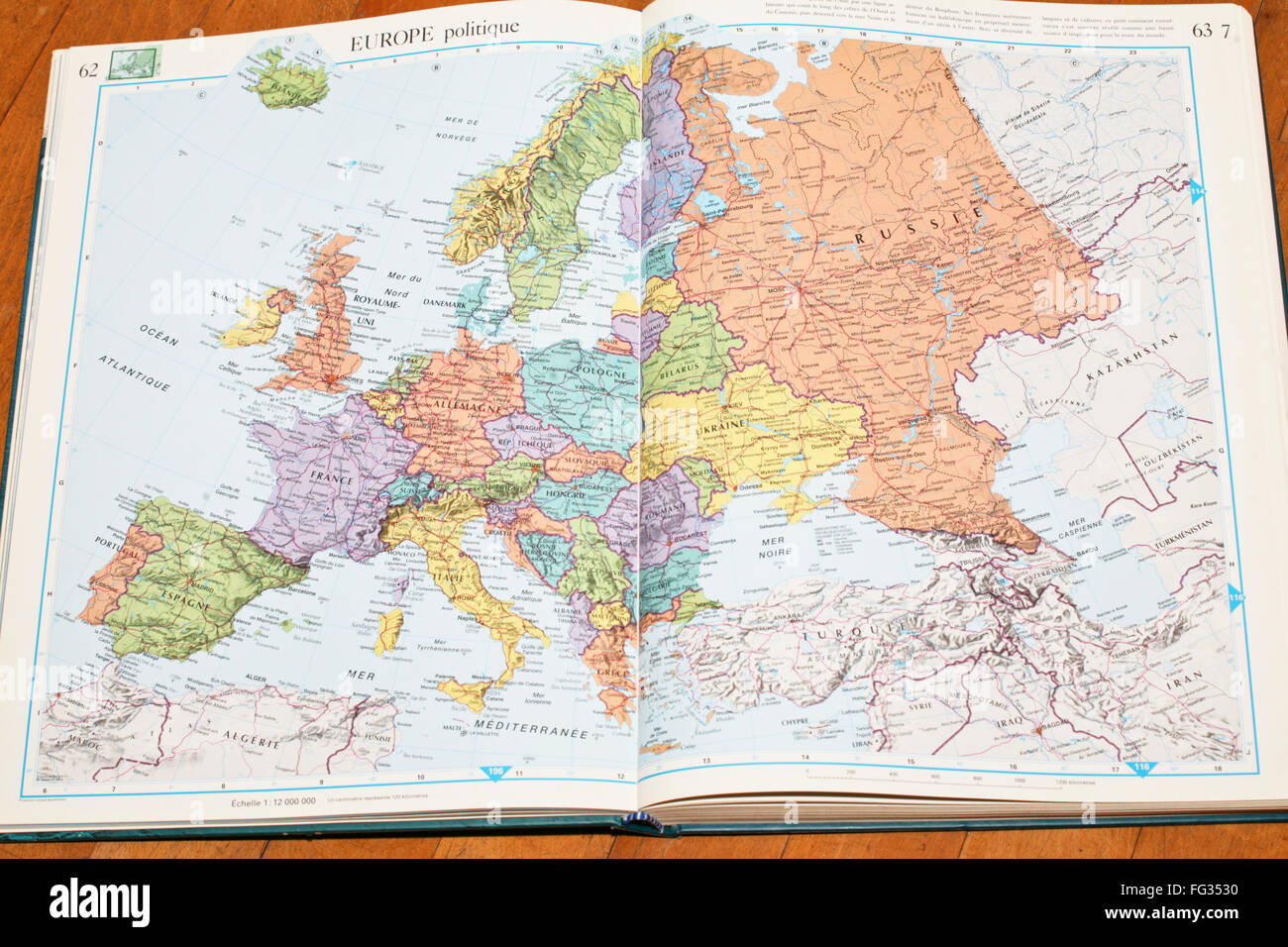 Atlas open book stock photos atlas open book stock images alamy french atlas book open stock image gumiabroncs Image collections
