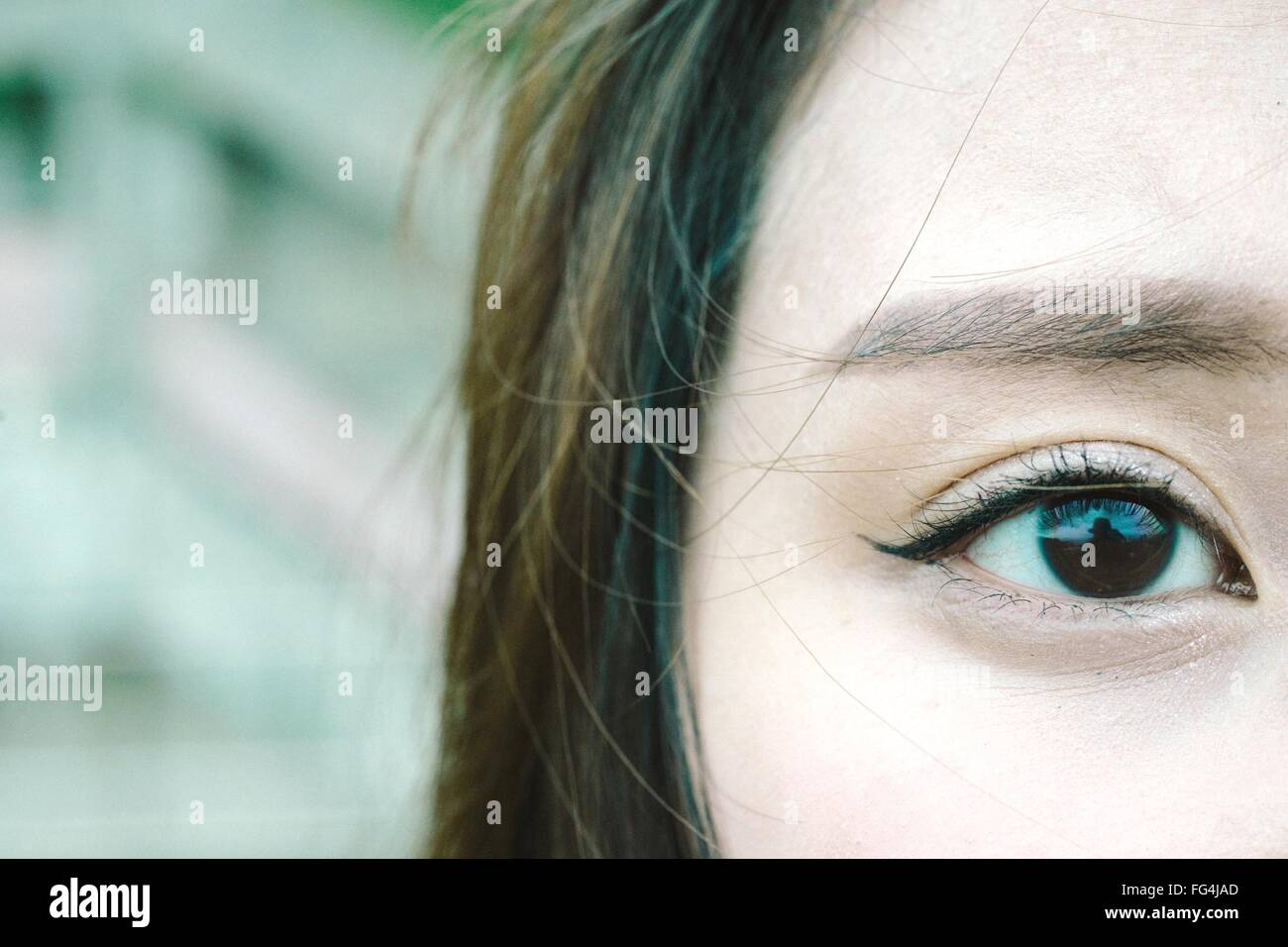 Close-Up Of Young Woman Eye - Stock Image