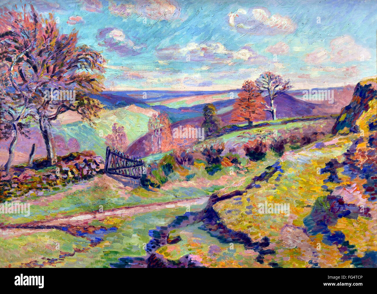armand guillaumin 1841 1927 the fishery crozant france french stock image - French Ngel Muster