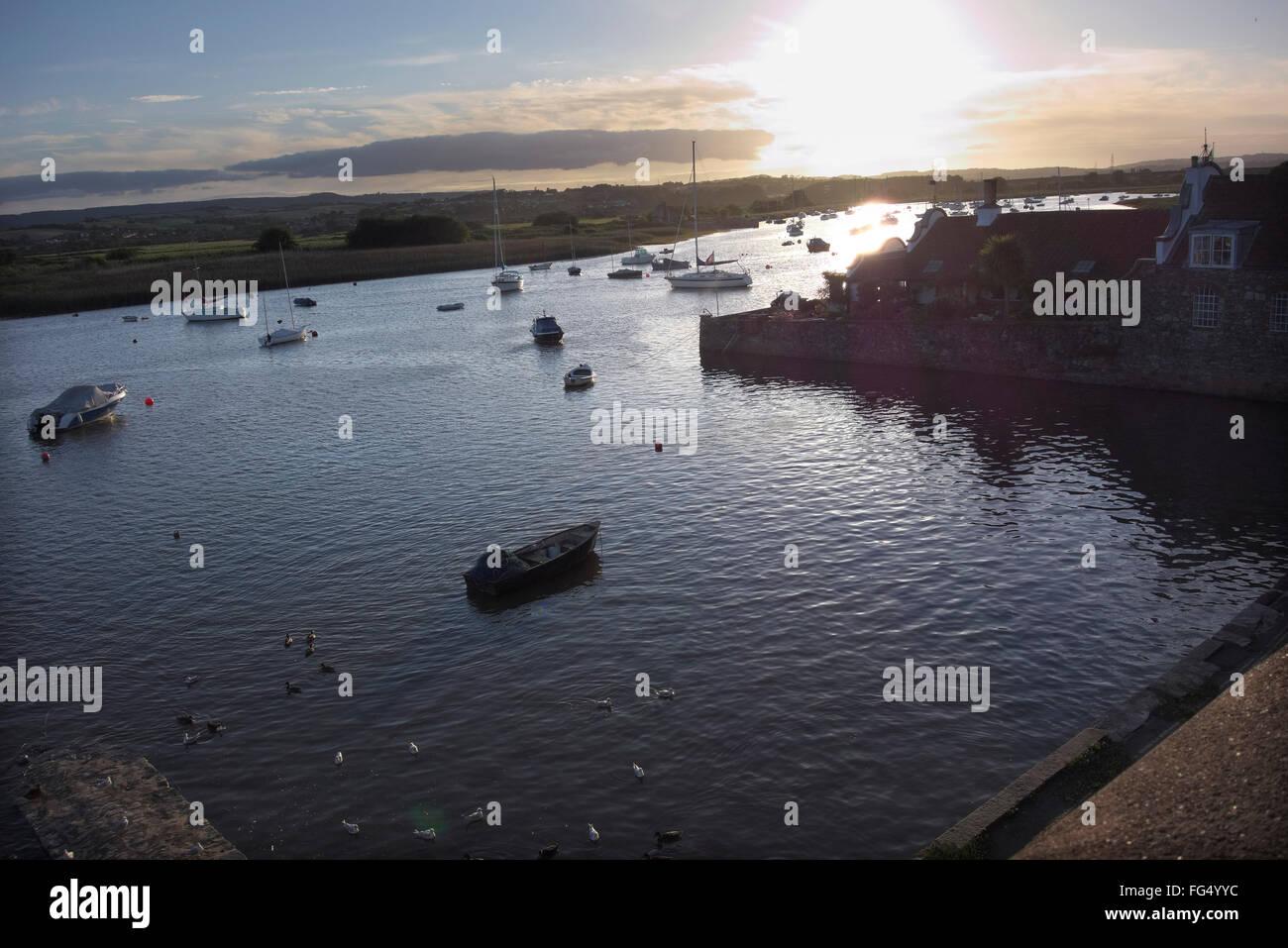River Exe estuary at Topsham - Stock Image
