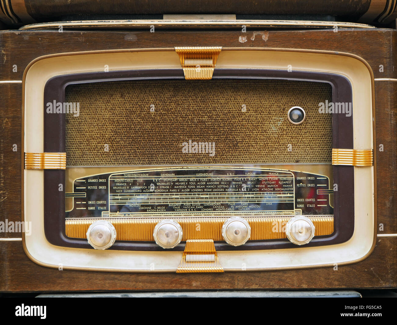 Close-Up Of Retro Styled Radios - Stock Image