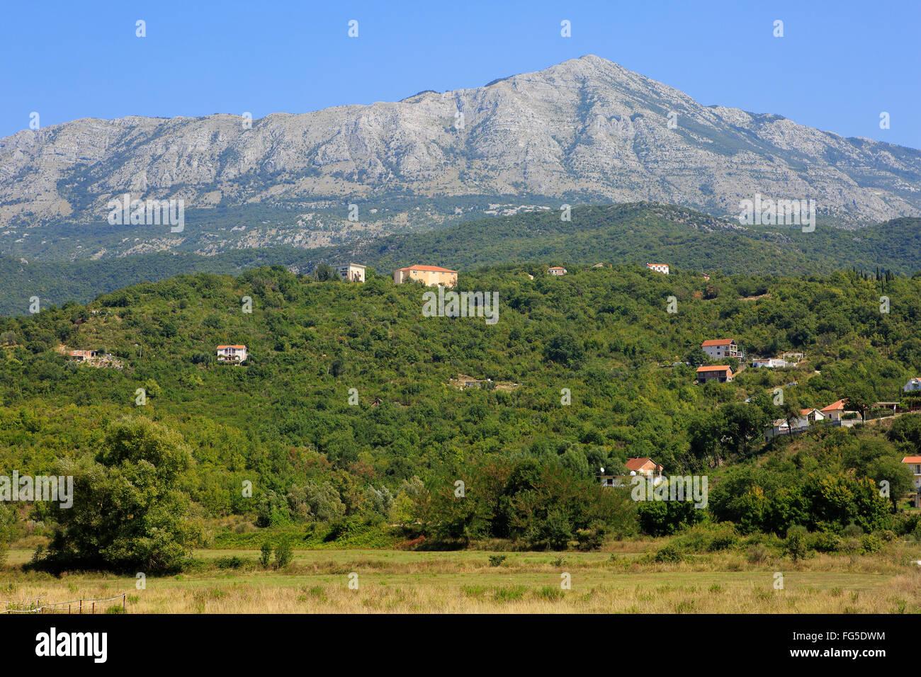The Sutorina Valley along the Croatian-Montenegrin border in Montenegro, Europe Stock Photo