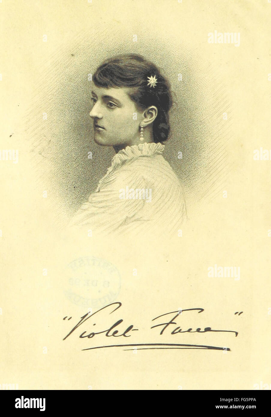 2 of 'Poems. By Violet Fane (M. M. Singleton). With portrait, etc' Stock Photo