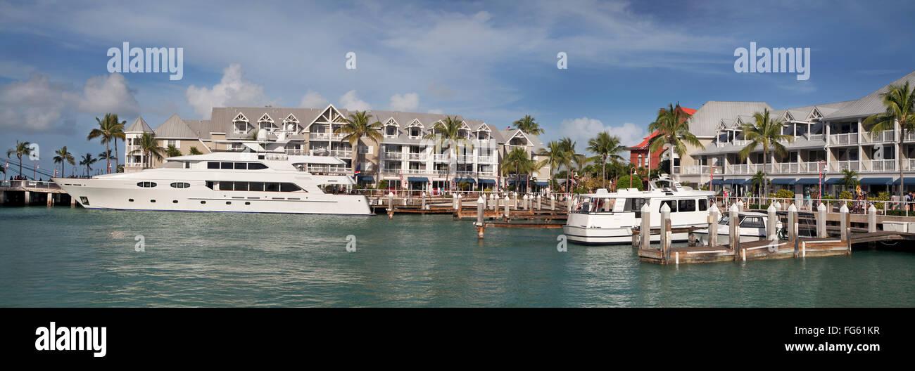 Key West harbor, Florida, USA - Stock Image