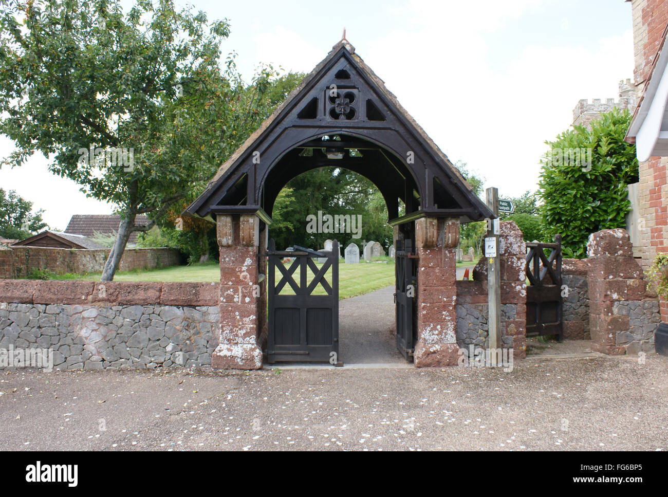 a typical lynch gate, in England - Stock Image