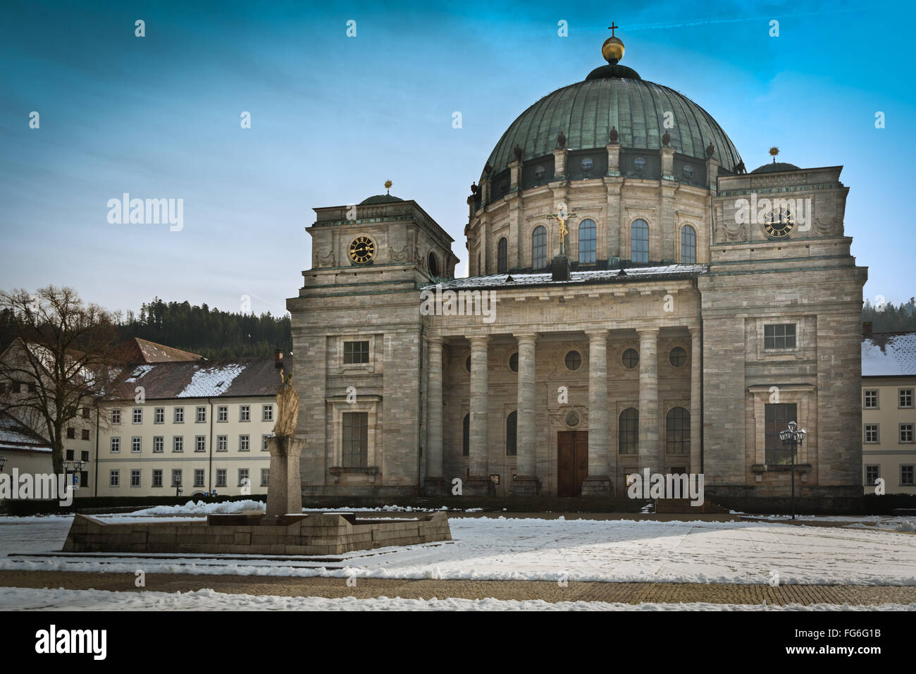 Abbey in Black Forest, St. Blasien, Germany Stock Photo