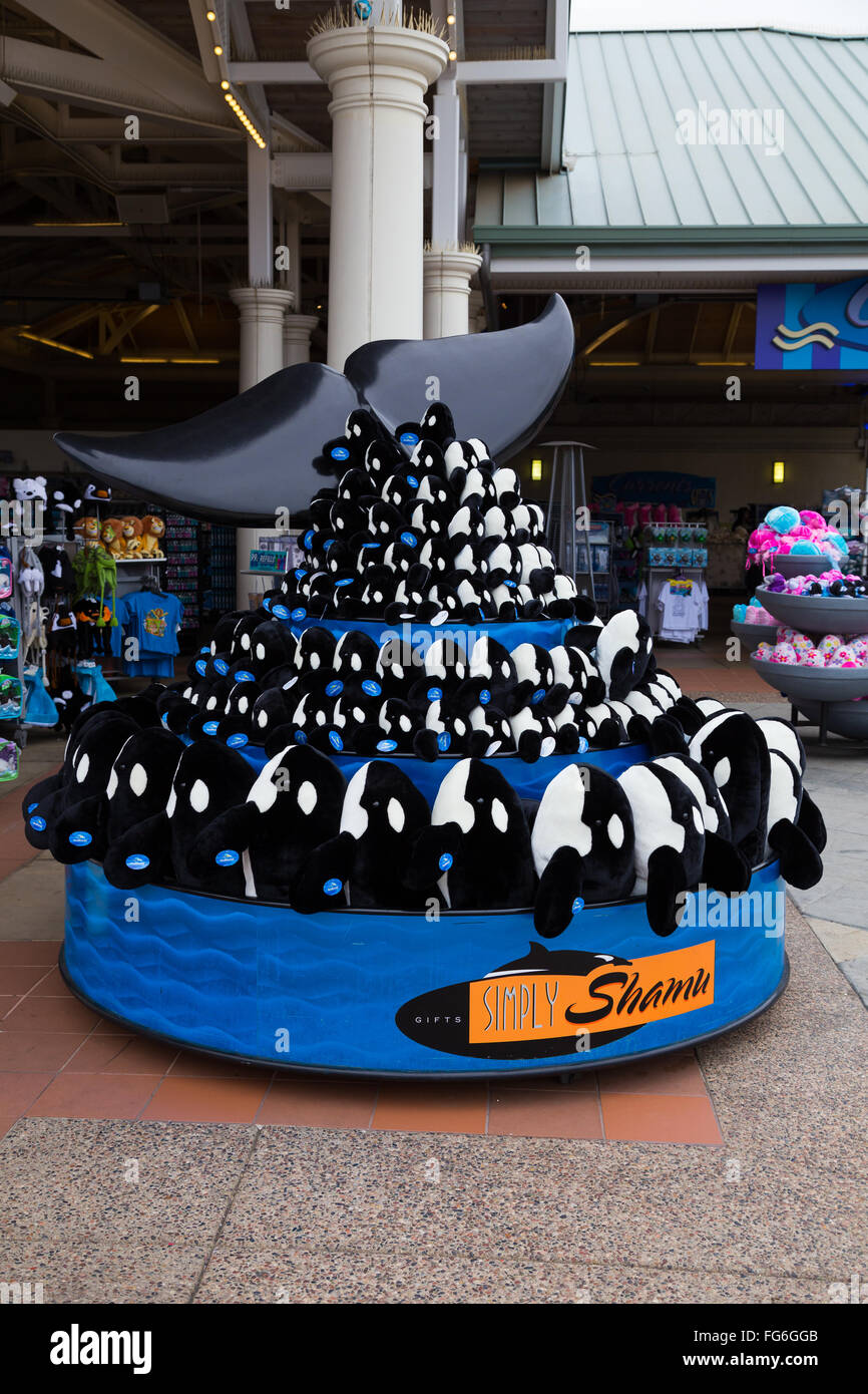 Stuffed Animals For Sale At Sea World In San Diego California Stock