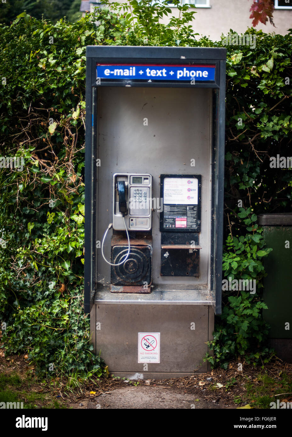 Antiquated phone box, Weston-Super-Mare, England - Stock Image