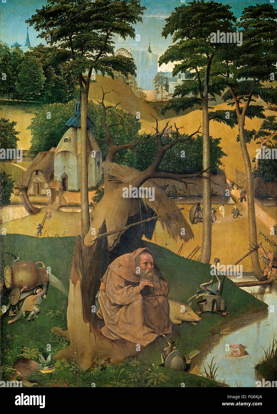 The Temptation of St Anthony by Hieronymus Bosch - Stock Image