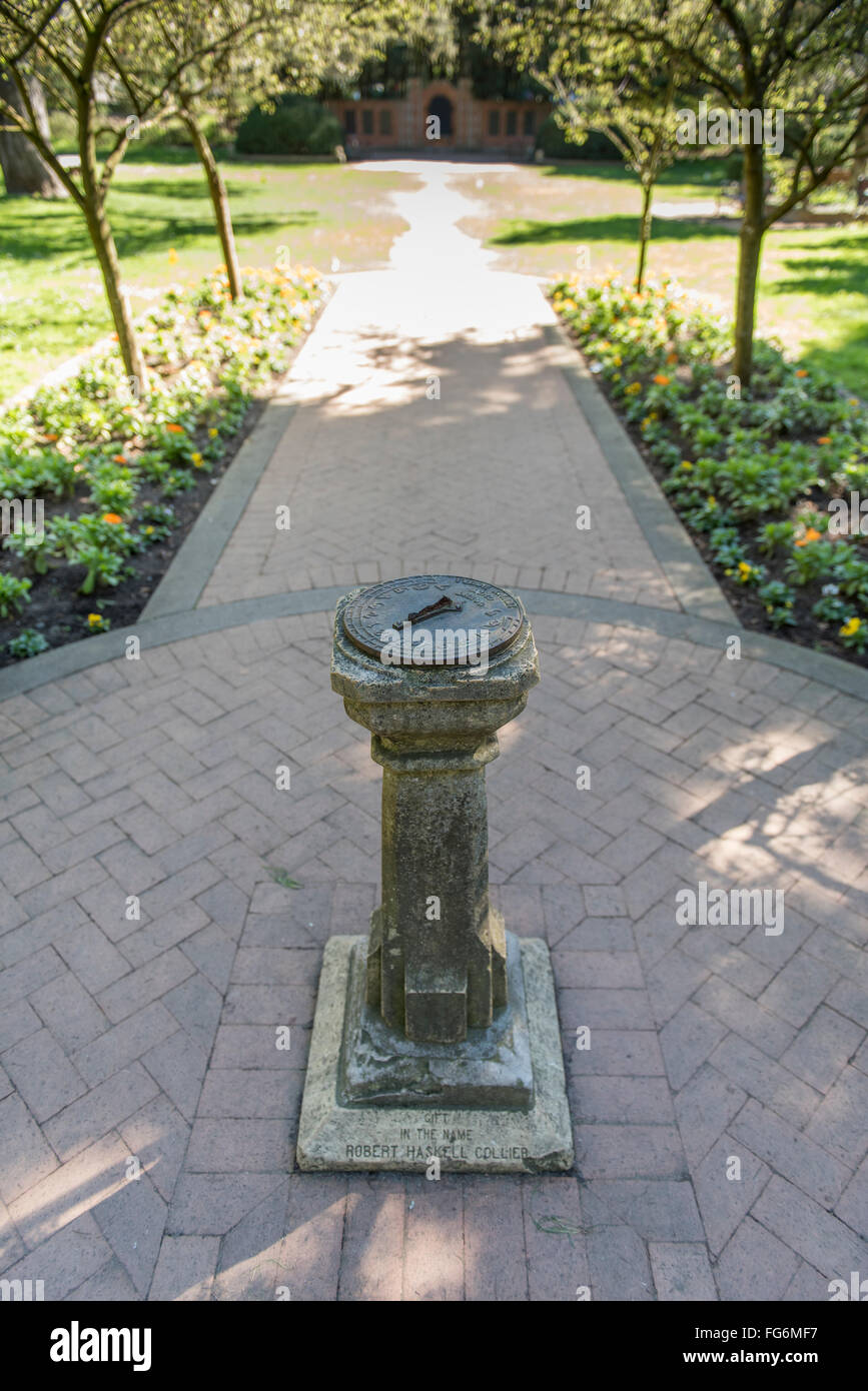 Sundial In The Middle Of The Shakespeare Garden In The Golden Gate