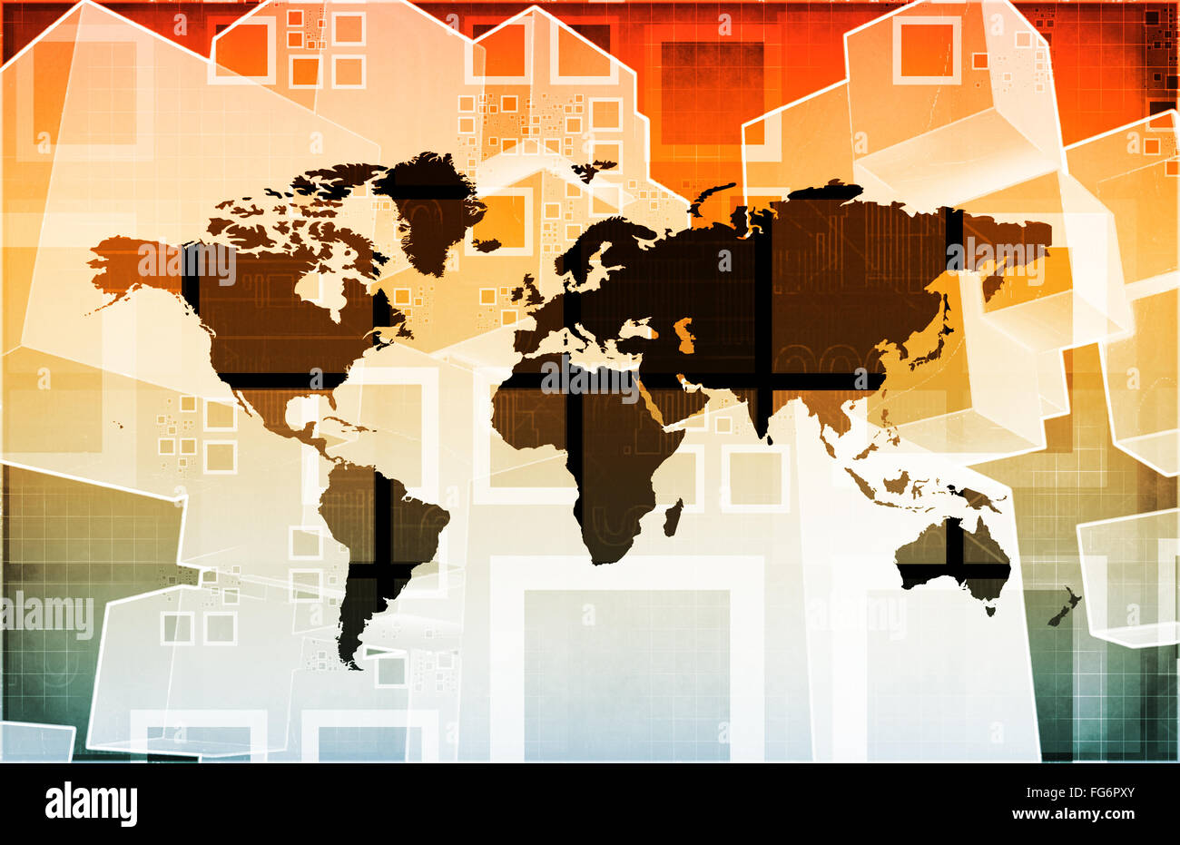 Emerging Market and International Global Businesses Art Stock Photo