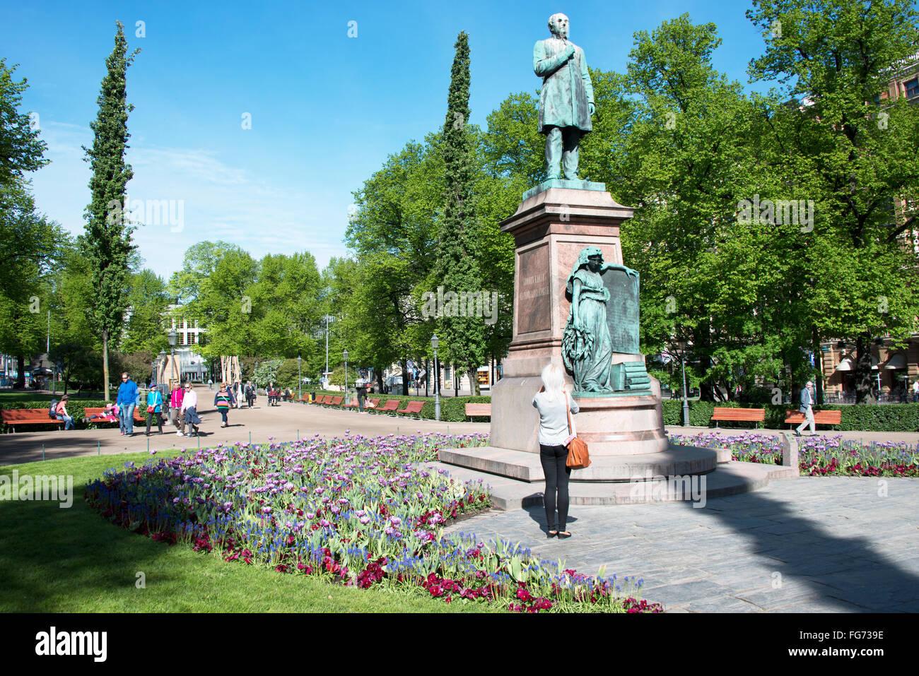 Esplanade Park, Helsinki, Uusimaa Region, Republic of Finland - Stock Image
