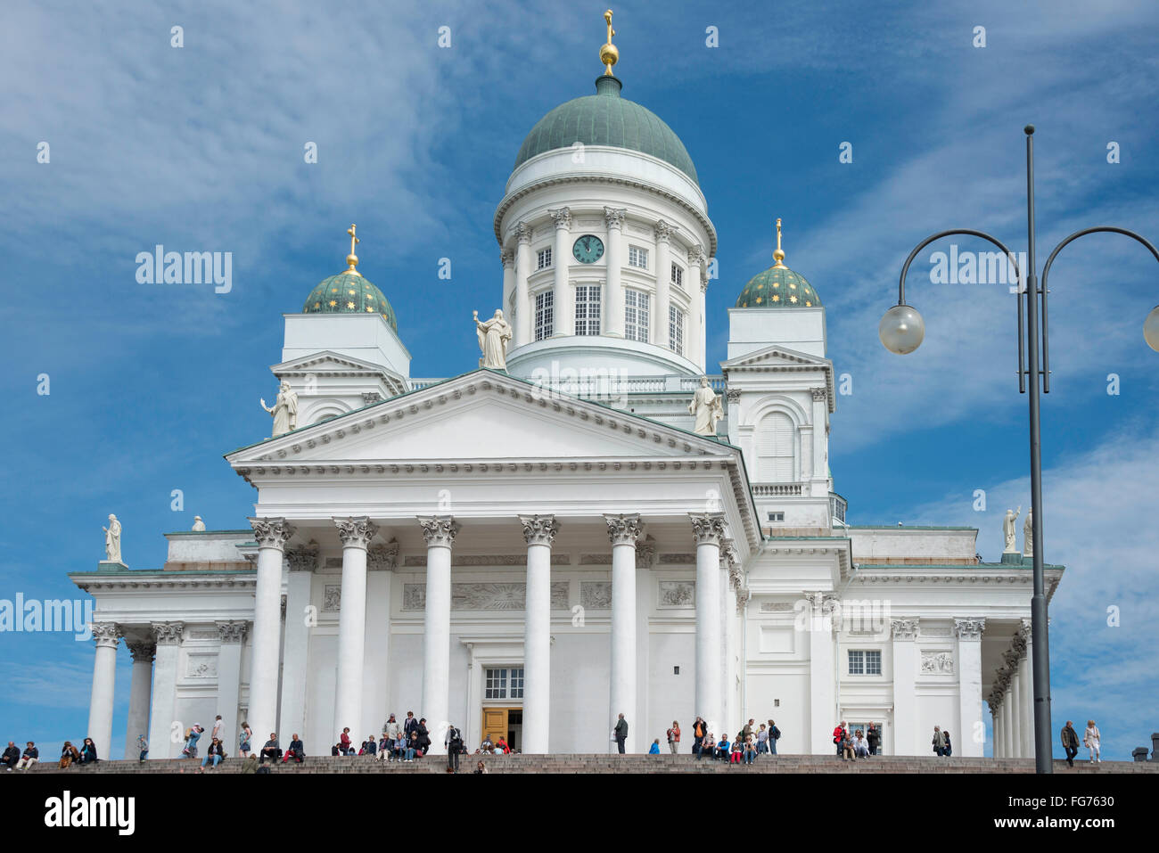 Helsinki Lutheran Cathedral, Senate Square, Helsinki, Uusimaa Region, Republic of Finland - Stock Image