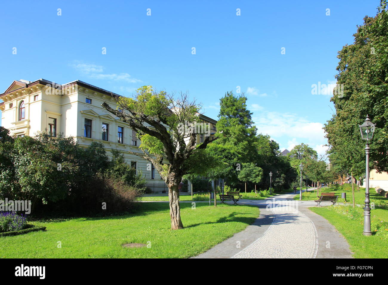 geography / travel, Germany, Saxony-Anhalt, Aschersleben, Augustpromenade, Additional-Rights-Clearance-Info-Not - Stock Image