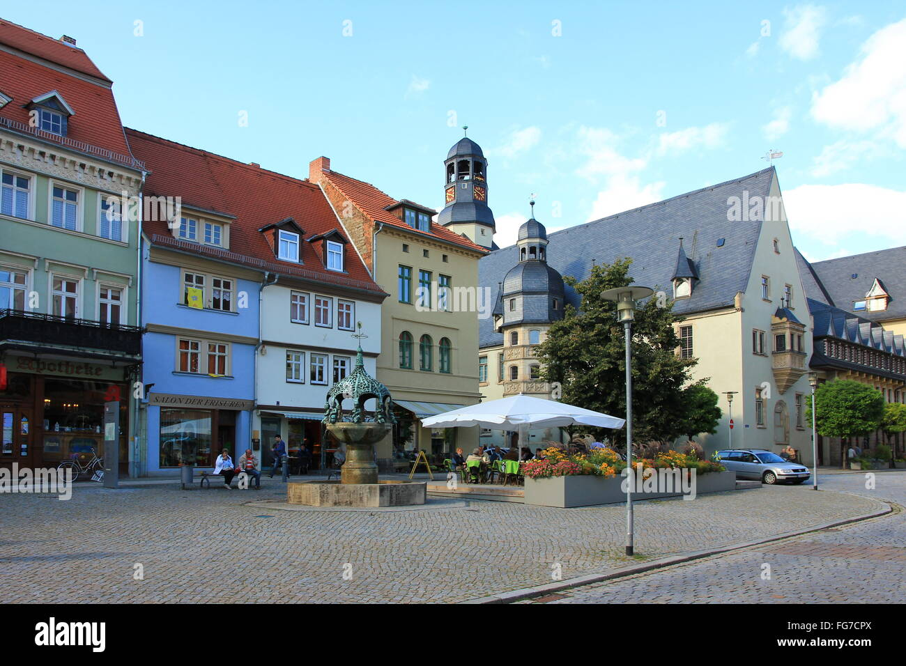 geography / travel, Germany, Saxony-Anhalt, Aschersleben, city hall, Additional-Rights-Clearance-Info-Not-Available - Stock Image