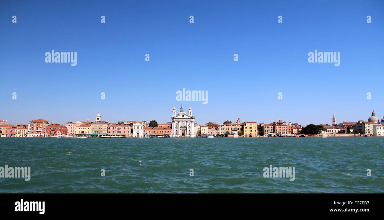 geography / travel, Italy, Venetia, Venice, Canale della Giudecca, Zattere, with the Chiesa dei Gesuati, Additional - Stock Image
