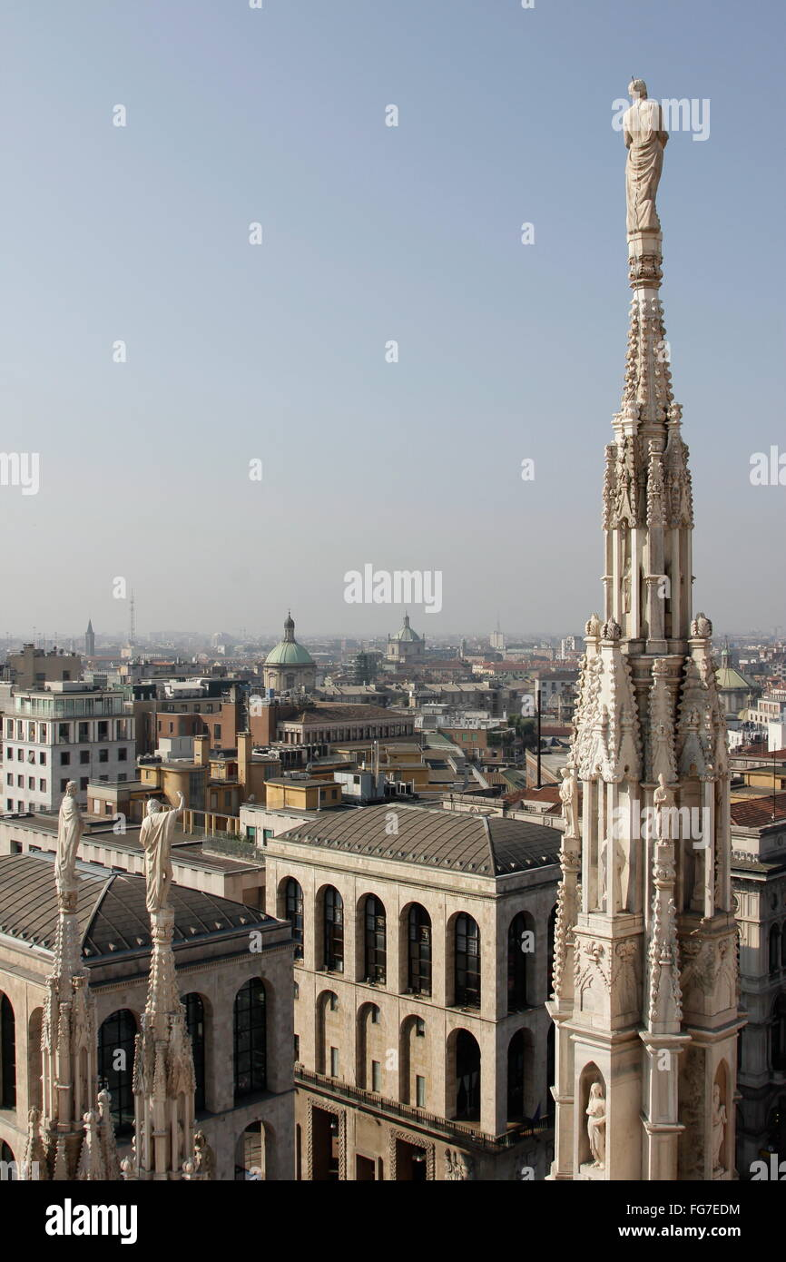 geography / travel, Italy, Lombardy, Milan, Milanese cathedral Santa Maria Nascente, built: 1386 - 1572, Additional - Stock Image