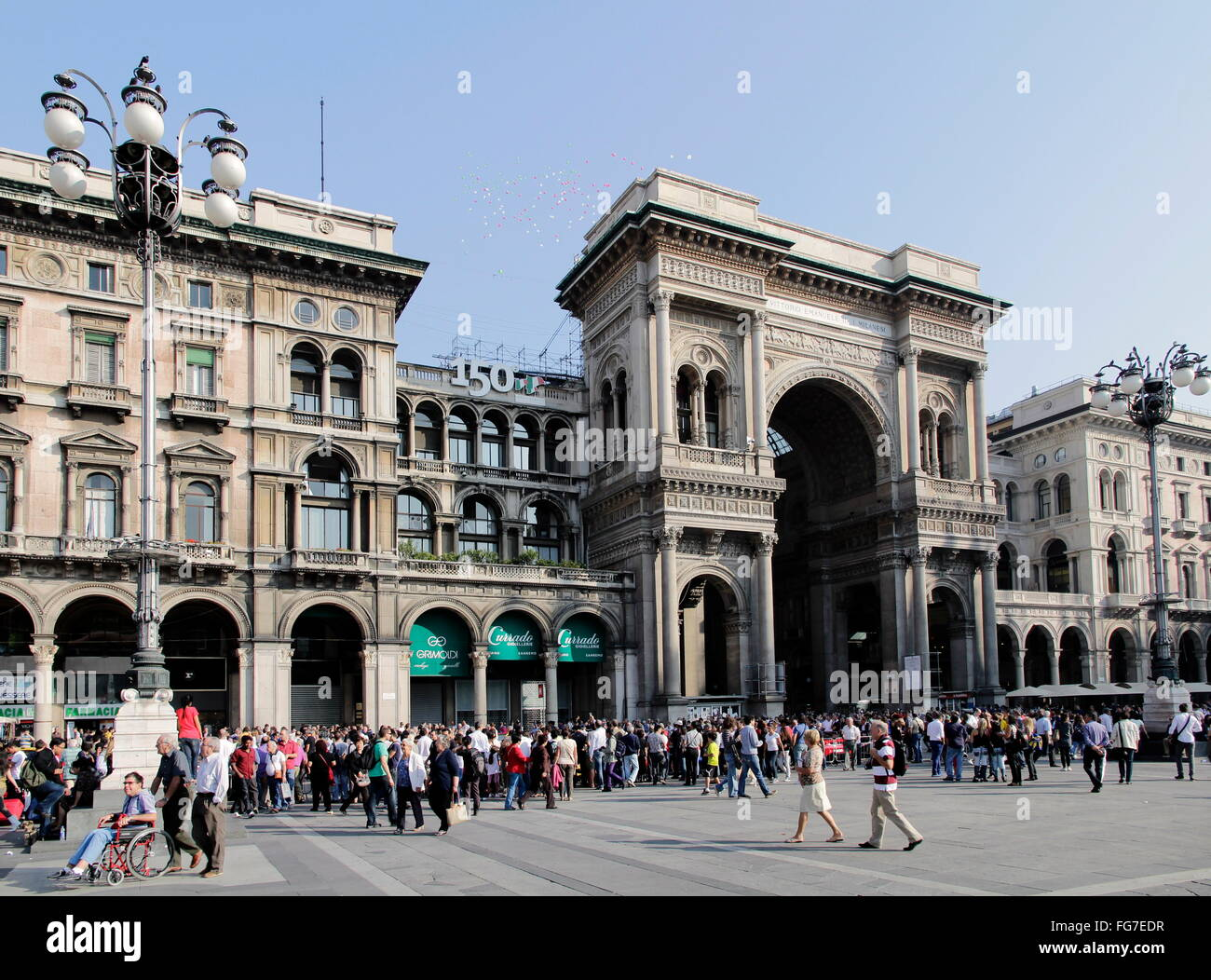 geography / travel, Italy, Lombardy, Milan, Piazza del Duomo, cathedral square, Galleria Vittorio Emanuele II, Additional - Stock Image