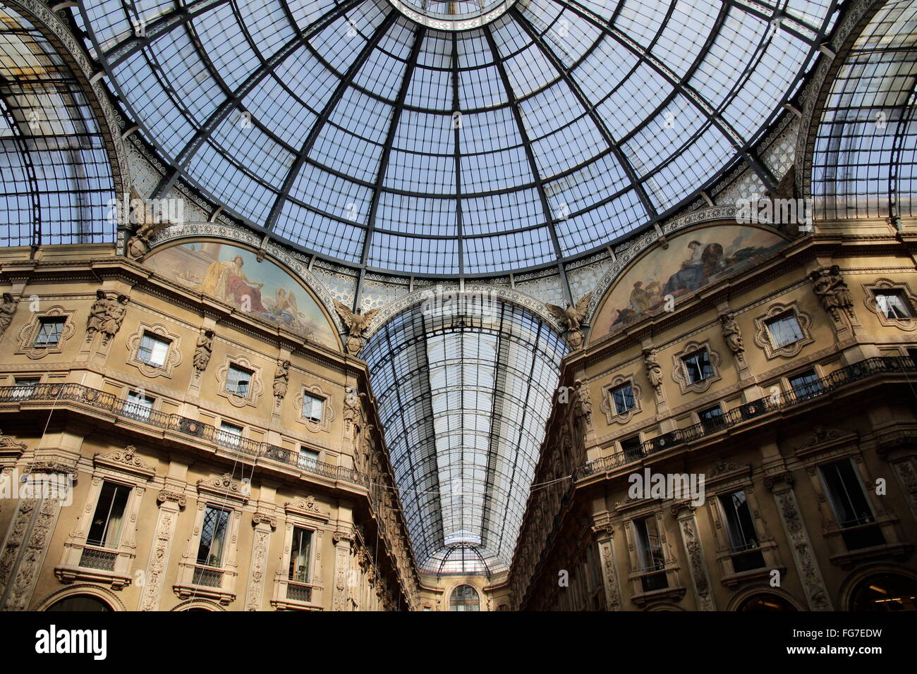 geography / travel, Italy, Lombardy, Milan, Galleria Vittorio Emanuele II, Additional-Rights-Clearance-Info-Not - Stock Image