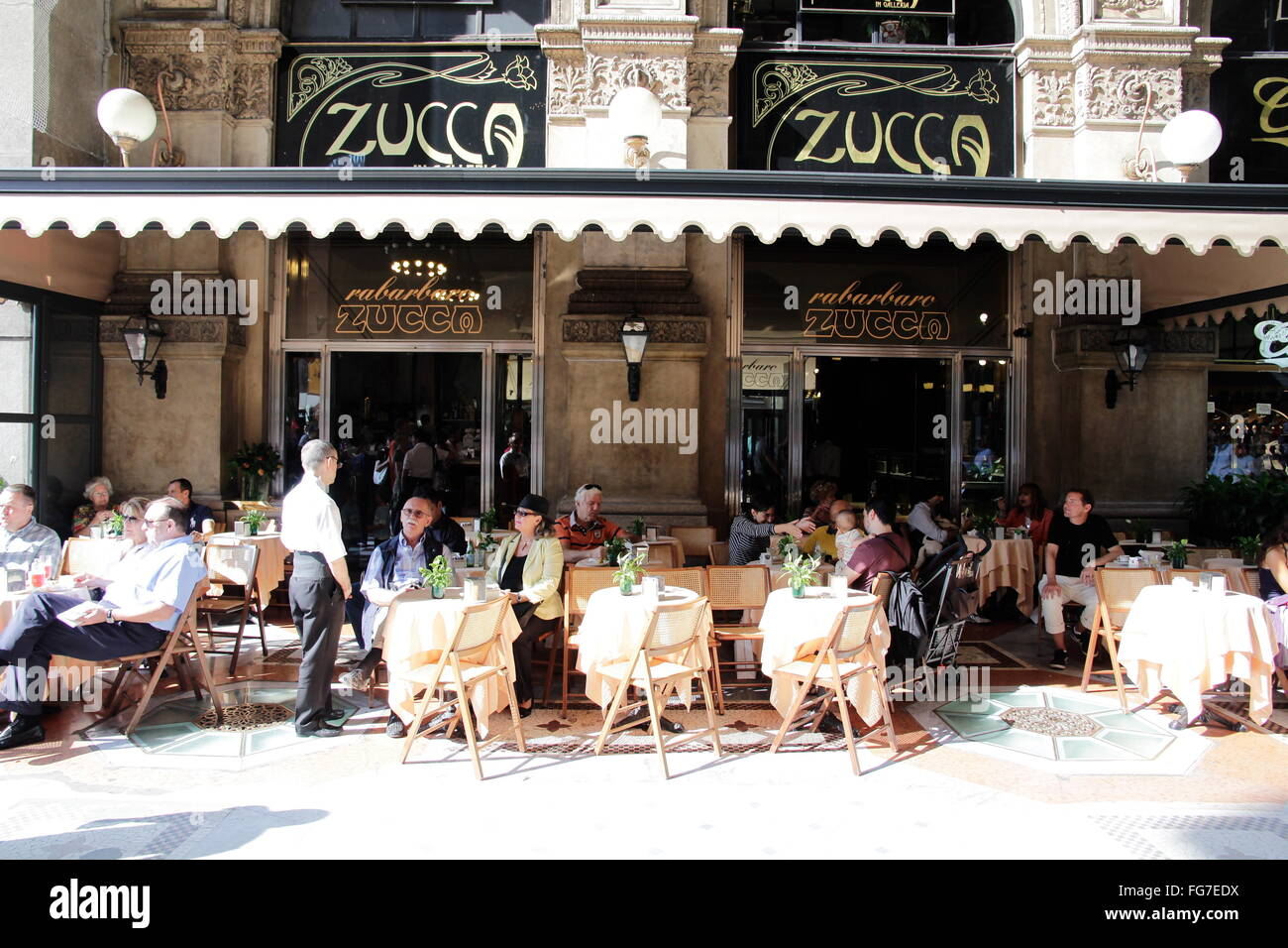 geography / travel, Italy, Lombardy, Milan, Galleria Vittorio Emanuele II, restaurant 'La Zucca', here was - Stock Image