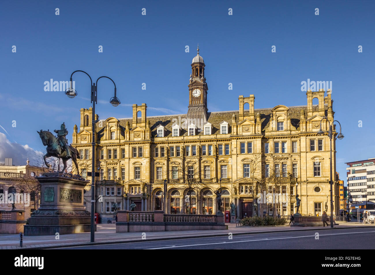The Old Post Office, City Square, Leeds, West Yorkshire, England, UK, on a sunny winter day - Stock Image