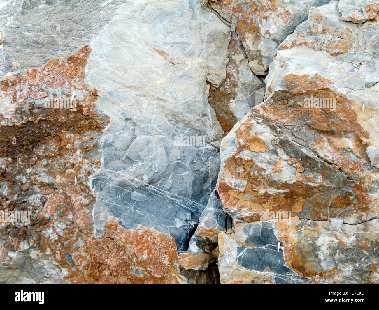 Griechenland, Kreta, bei Chersonissos, Gestein - Stock Image