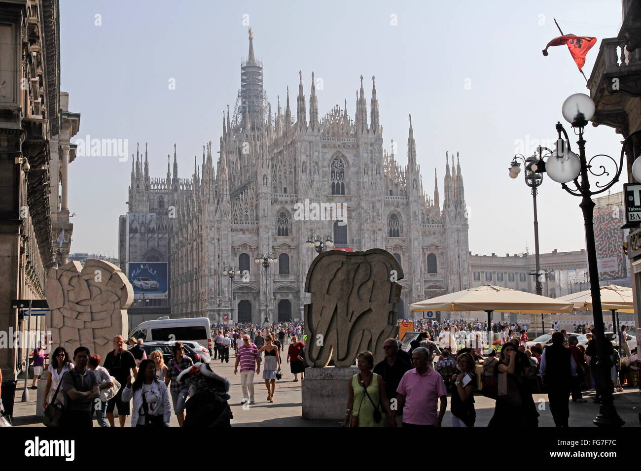 geography / travel, Italy, Lombardy, Milan, Milanese cathedral Santa Maria Nascente, cathedral square, Additional - Stock Image