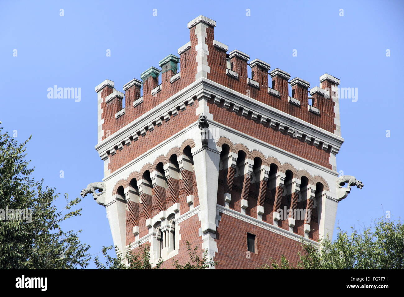 geography / travel, Italy, Lombardy, Milan, building, Casa Cova, tower, Additional-Rights-Clearance-Info-Not-Available - Stock Image