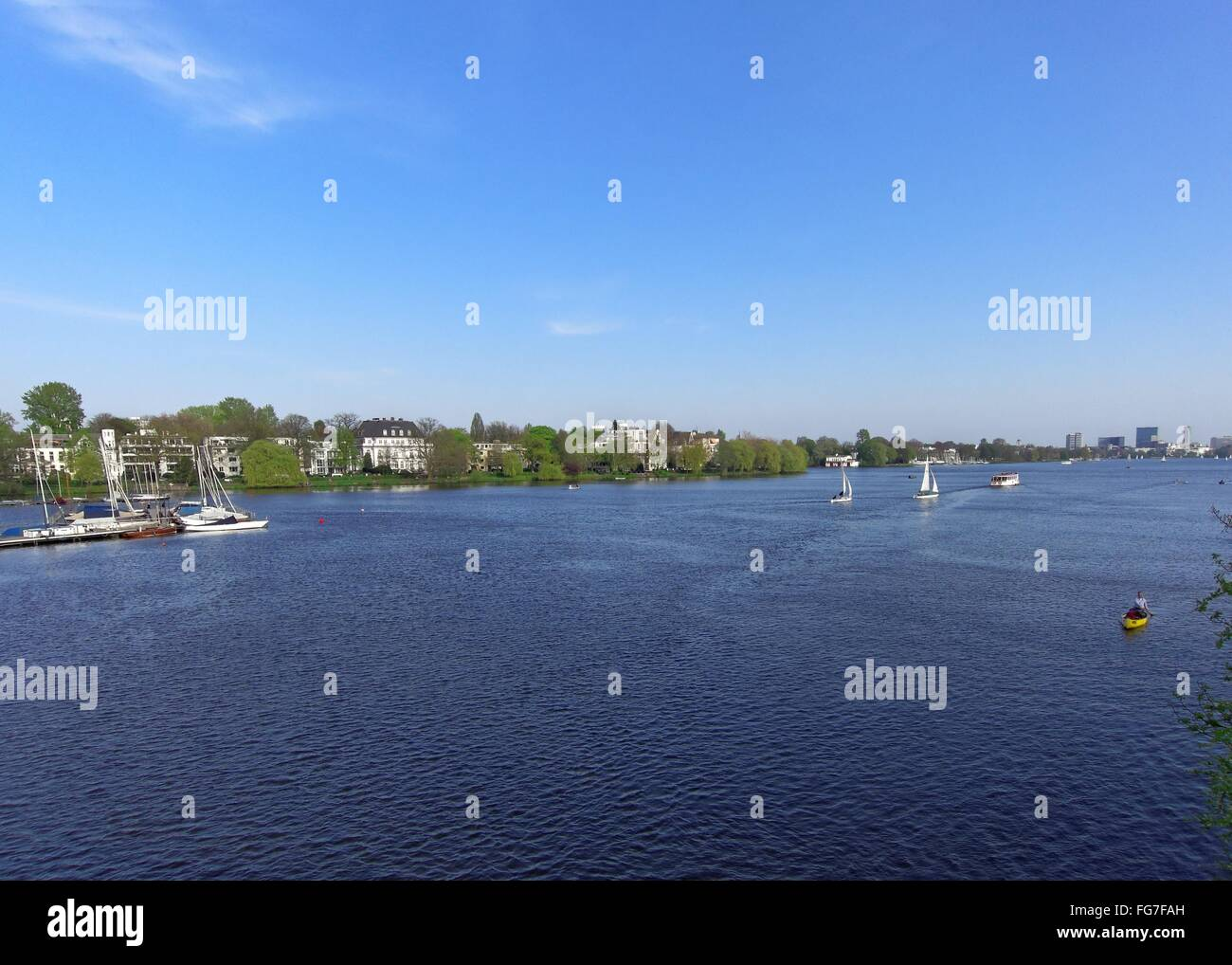 geography / travel, Germany, Hamburg, Outer Alster, , Additional-Rights-Clearance-Info-Not-Available Stock Photo