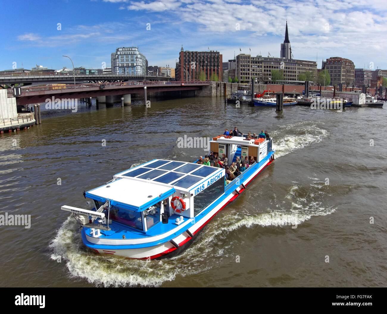 geography / travel, Germany, Hamburg, inland port, Otto-Sill-Brücke (bridge), Additional-Rights-Clearance-Info - Stock Image