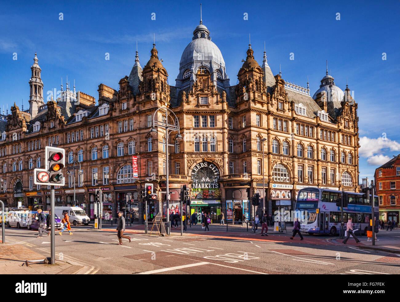Leeds City Markets, West Yorkshire, England. UK - Stock Image