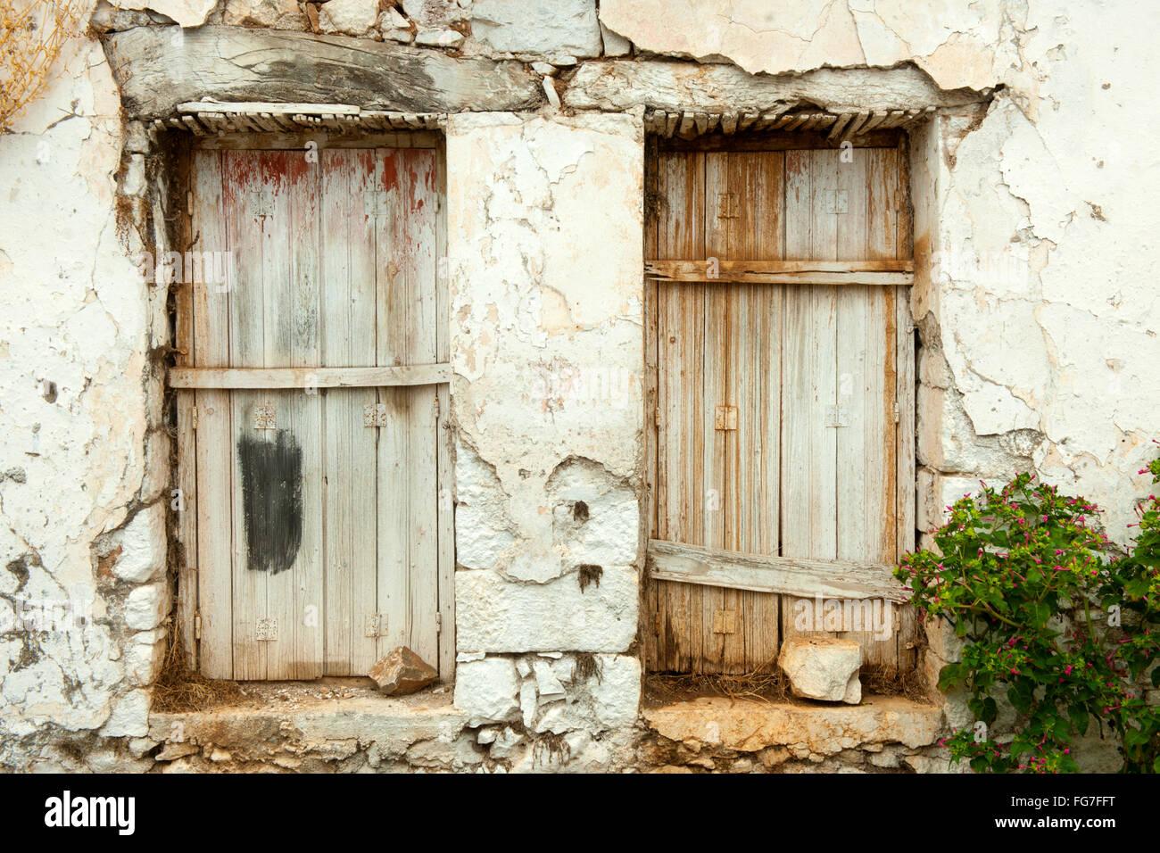 Griechenland, Kreta, Fourni nördlich von Neapoli, altes Dorfhaus - Stock Image