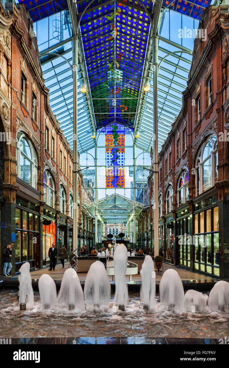 County Arcade, Victoria Quarter, Leeds, West Yorkshire, England, UK - Stock Image