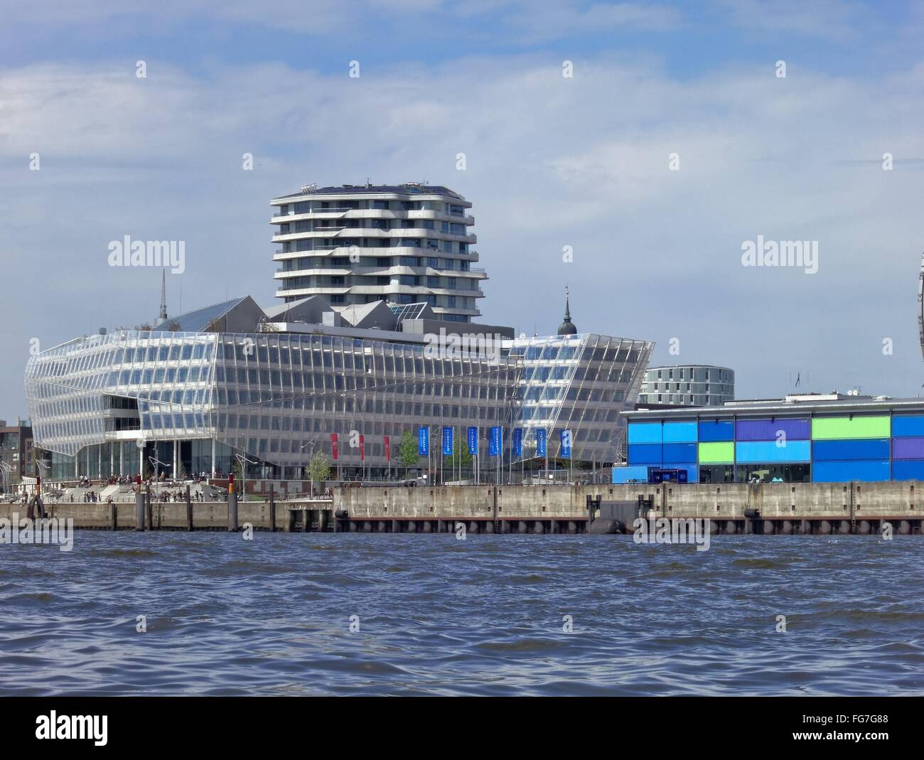 geography / travel, Germany, Hamburg, HafenCity, Unilever building, , Additional-Rights-Clearance-Info-Not-Available - Stock Image