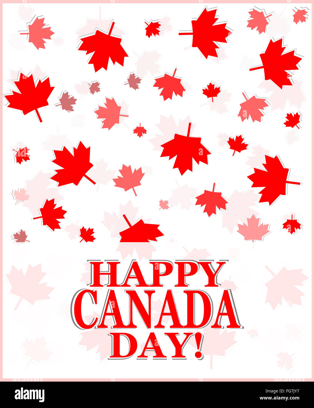 Happy canada day greetings card stock photo 96054875 alamy happy canada day greetings card m4hsunfo