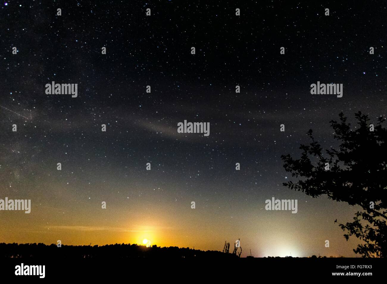 Scenic View Of Star Field - Stock Image