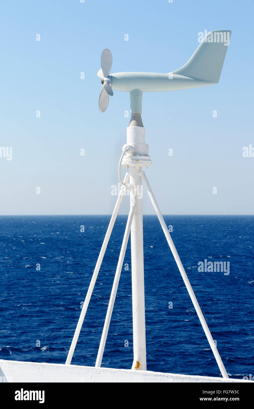 Propeller anemometer used to measure wind speed and