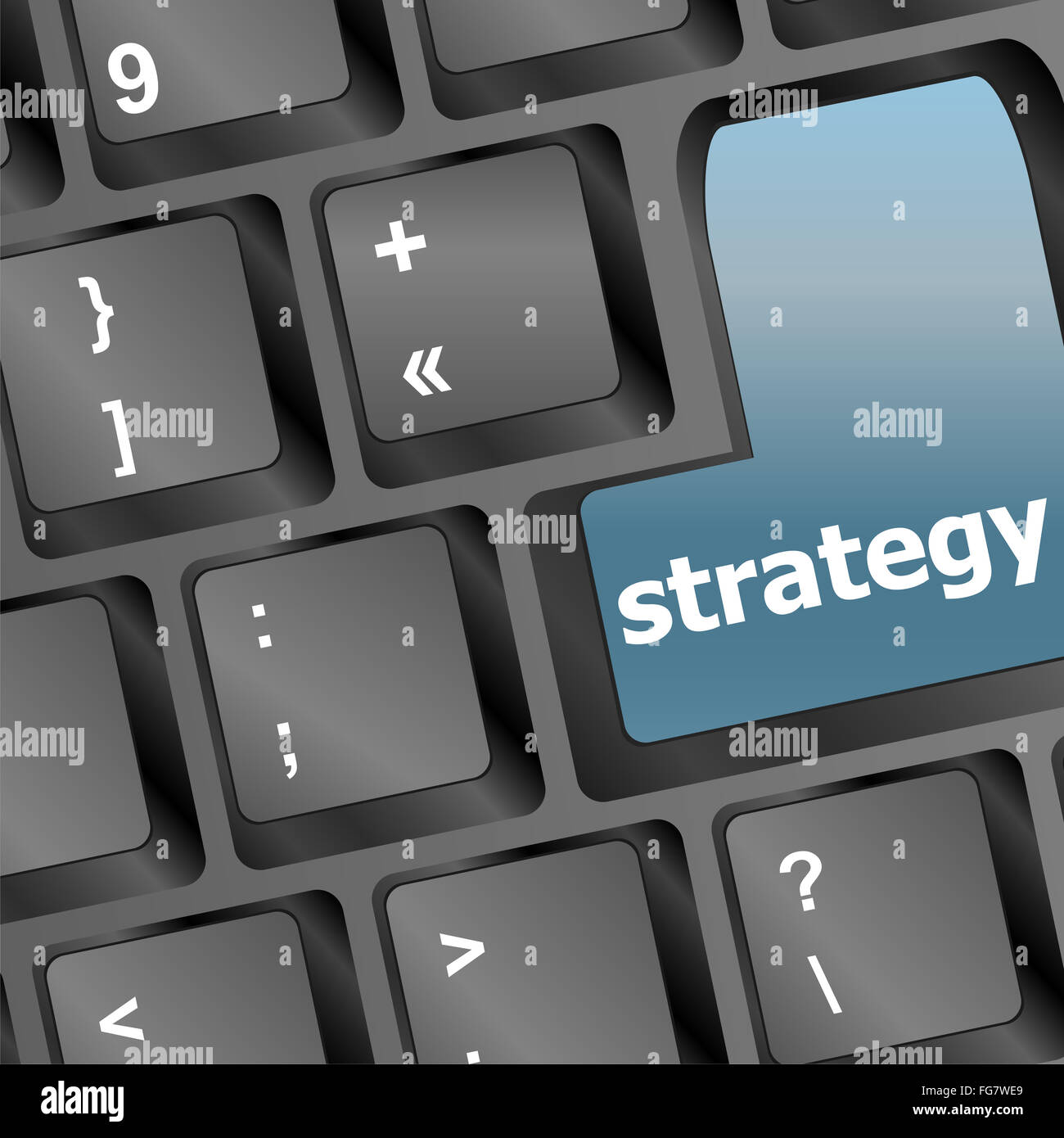 Strategy Text Symbol On Keyboard Business Concept Stock Photo
