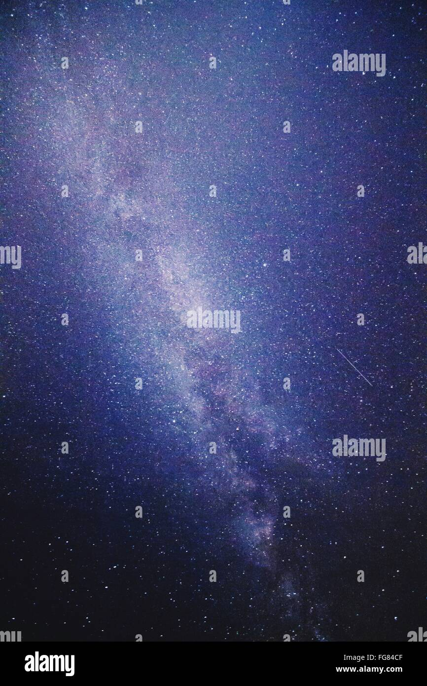 Low Angle View Of Stars In Sky At Night - Stock Image