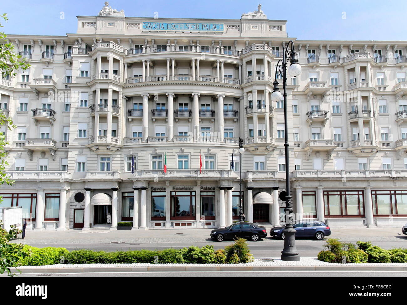 geography / travel, Italy, Friuli, Trieste, Hotel Savoia Excelsior, built: 1912 by A. Fiedler, Additional-Rights - Stock Image