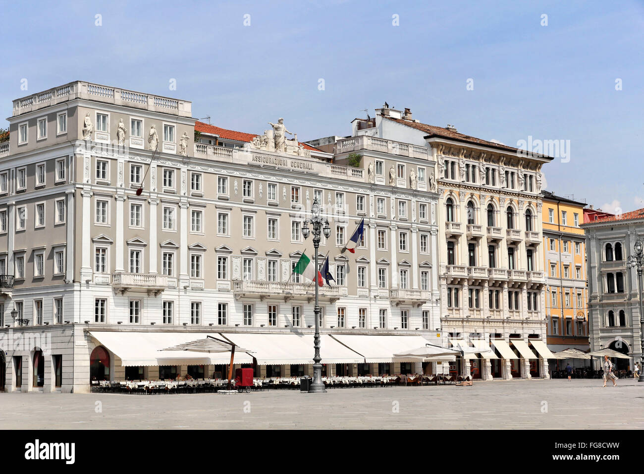 geography / travel, Italy, Friuli, Trieste, Cafe degli Specchi, Piazza Unita, Additional-Rights-Clearance-Info-Not - Stock Image