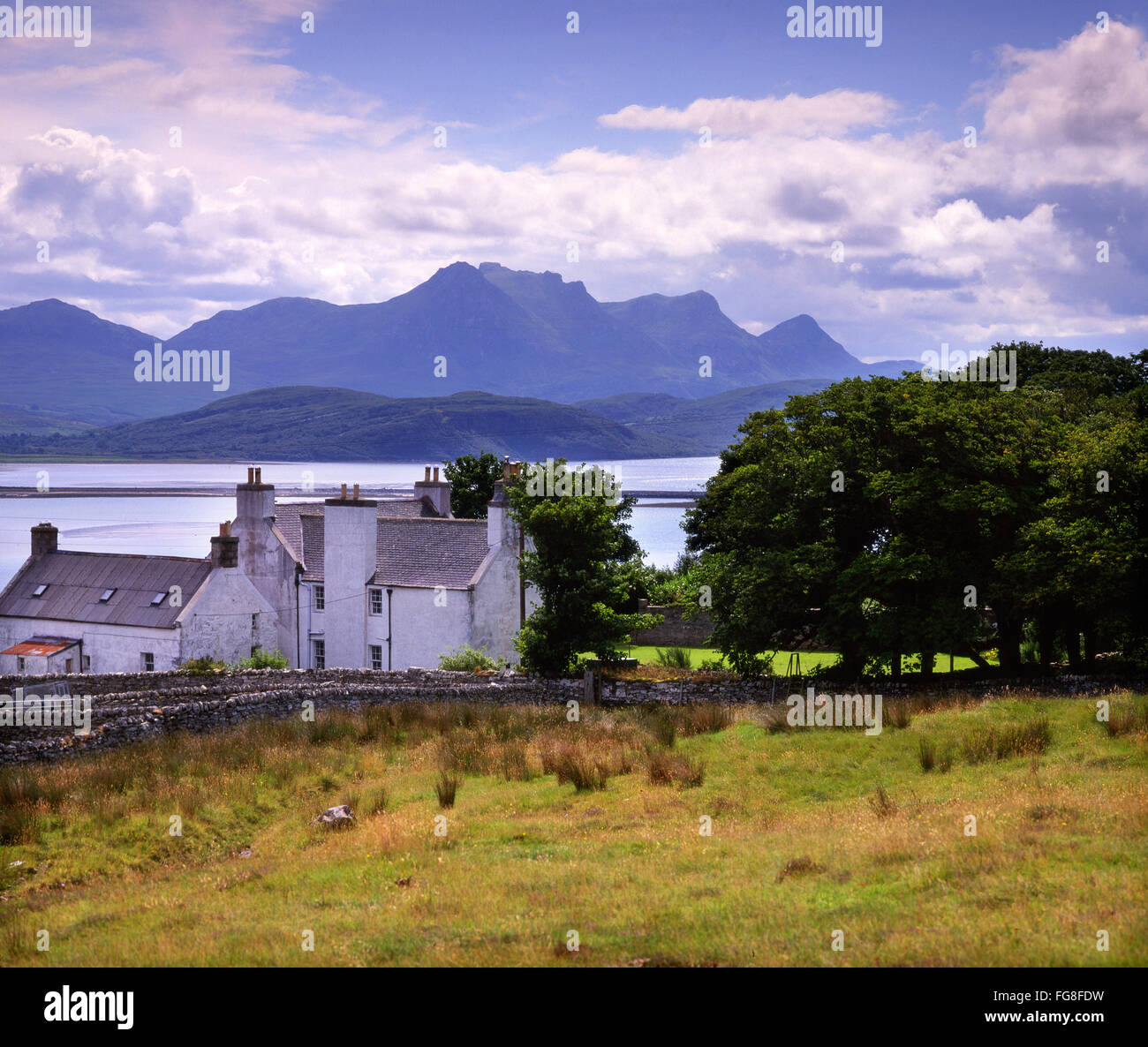 Kyle of Tongue with Ben Loyal in View, Tongue, N/W Highlands - Stock Image