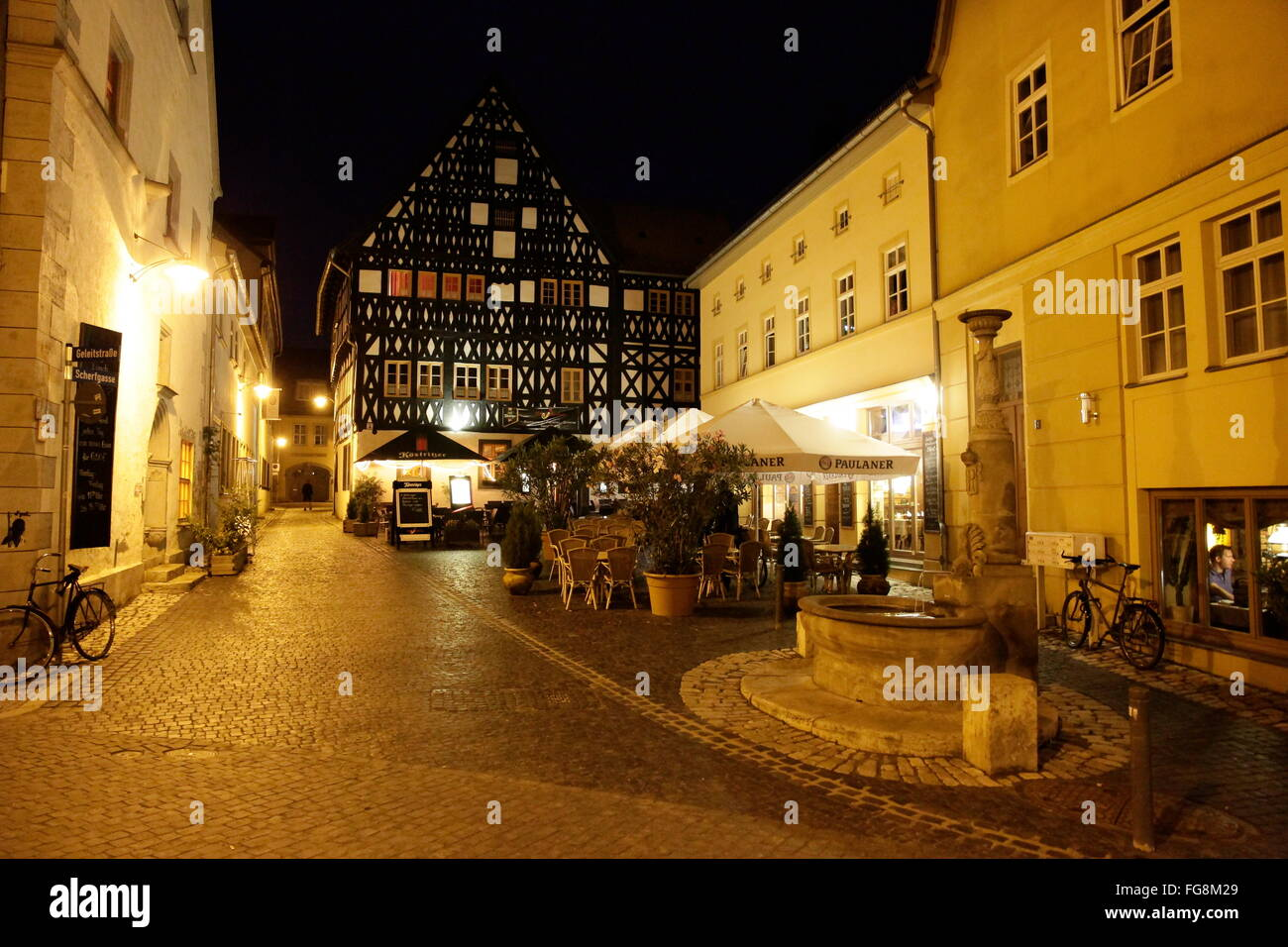 geography / travel, Germany, Thuringia, Weimar, Scherfgasse, Additional-Rights-Clearance-Info-Not-Available - Stock Image